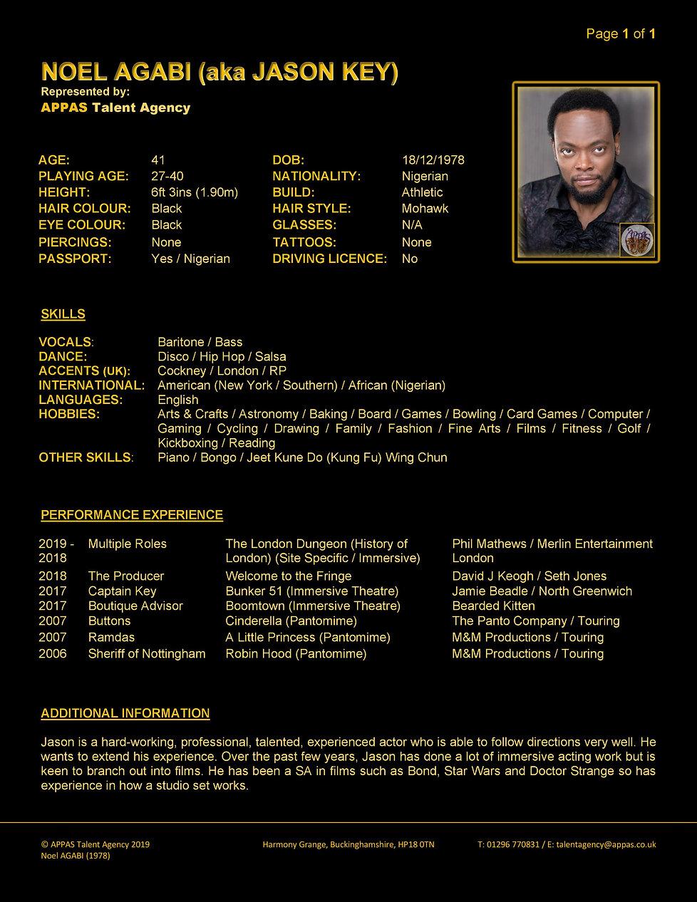 JASON KEY (NOEL AGABI) WEB CV (JAN 2020)
