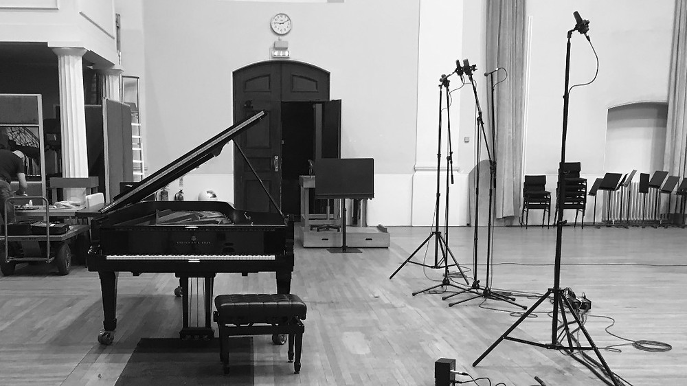 piano and distant microphones