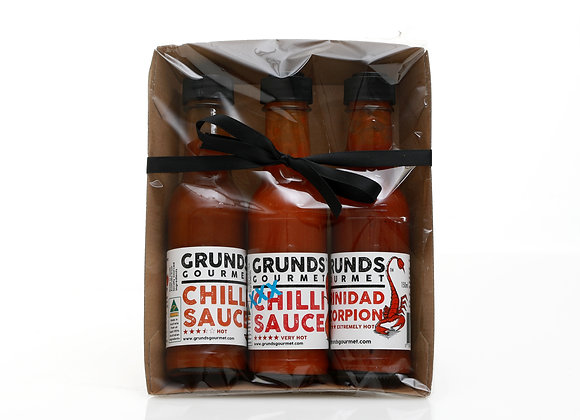 Hot Sauce Gift Pack. 3 of 150ml
