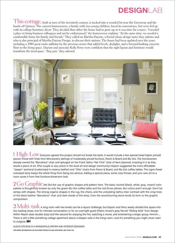 Martha Dayton Design: Midwest Home, December 2008