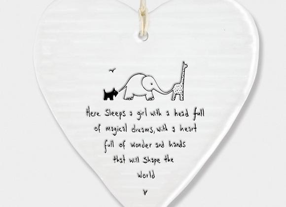 Baby girl ceramic plaque