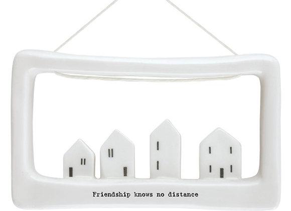 Friendship knows no distance porcelain frame