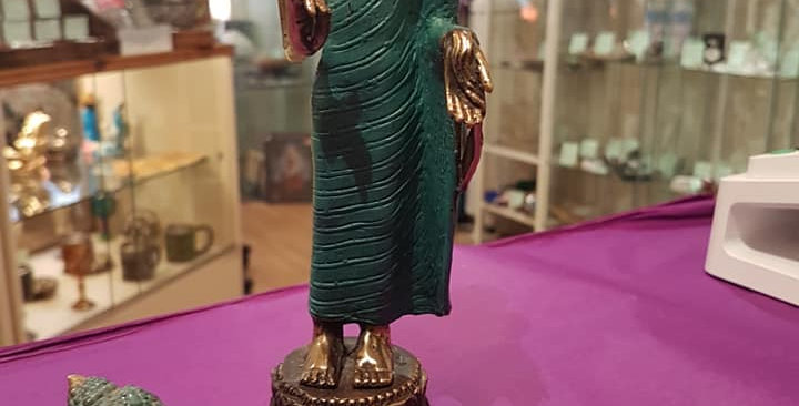 Blue and Brass Buddhas