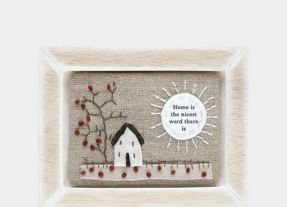 Home - Embroidered plaque