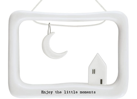 Enjoy the little moments porcelain frame