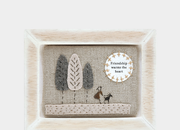 Friendship - Embroidered plaque