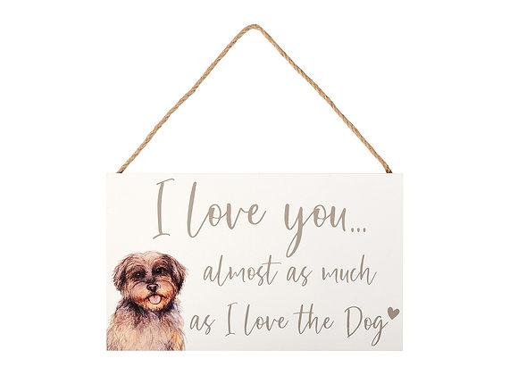 I love the dog plaque