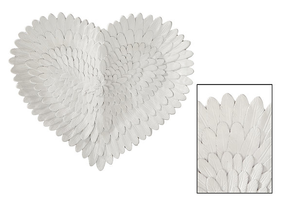 White feather plate