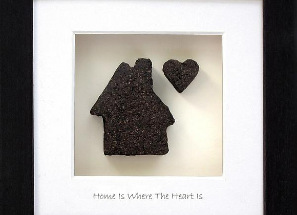 Home is where the heart is hand crafted in Ireland from real Irish bog