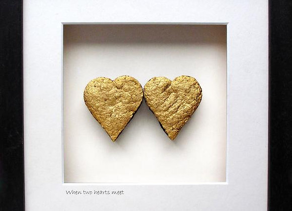 When two hearts meet handmade from Irish bog