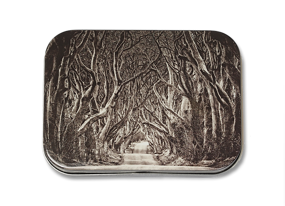 DARK HEDGES TIN WITH FUDGE OF YOUR CHOICE