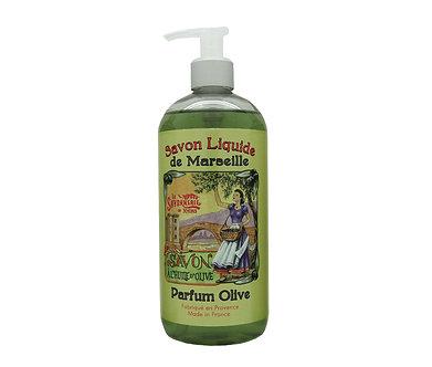流動時光 精油馬賽液體皂 -  和平綠橄欖 1000ml
