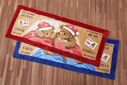 日本丸紅門墊 - 聖誕熊