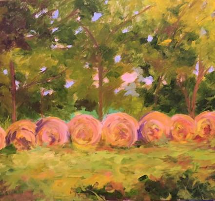 Painting 28 _Vesuvius Hay Bales_ SOLD Robin.jpg