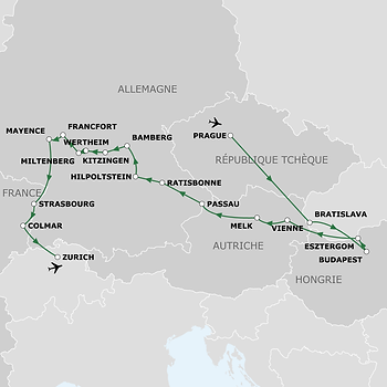 Rhin, Main et Danube à bord de CroisiEurope