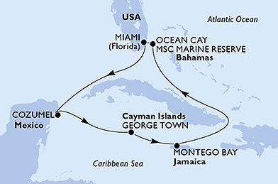 Les caraïbes - MSC  Seaside