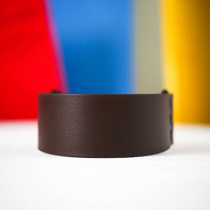 Medium Wide Brown 1 1/2'' 3.8cm collar