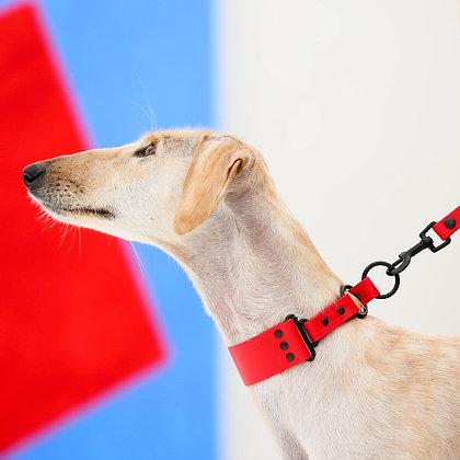 Medium Wide Red  1 1/2'' 3.8cm collar