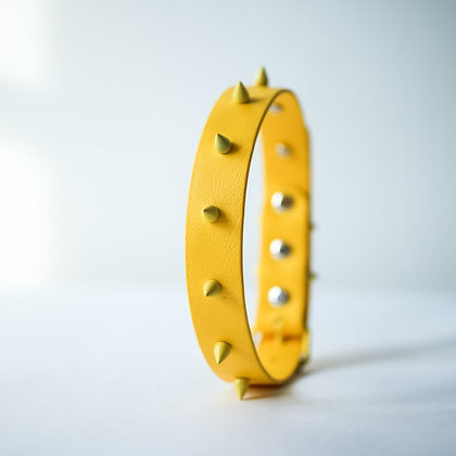 Yellow Spike collar