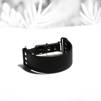 Medium Wide Black  1 1/2'' 3.8cm collar