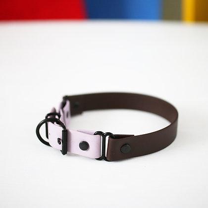 Brown Color Block Collar