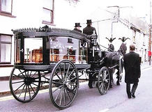 Horse drawn funerals Shrewsbury