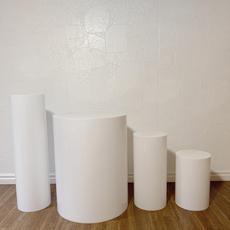 Round White Plinths