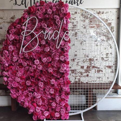 Half Pink Flower Wall