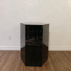 Black Hexagon Plinth