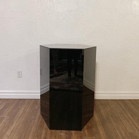 Black Hexagon Plinth
