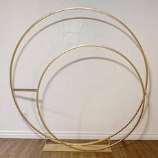 Gold Double Hoop Backdrop