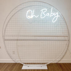 """Neon """"Oh Baby"""" Sign"""