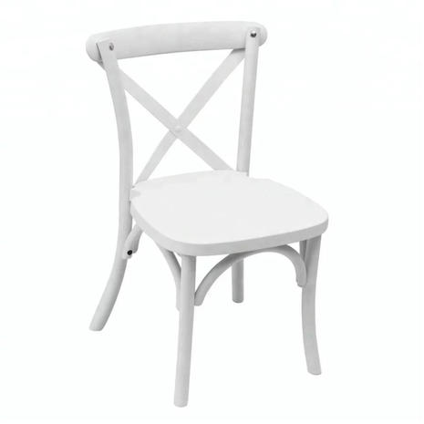 Kids White Crossback Chair