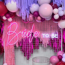 "Neon ""Bride To Be"" Sign"