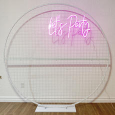"Neon ""Let's Party"" Sign"