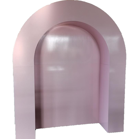 Luxe Pink Arch Wall