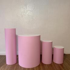 Round Pink Plinth