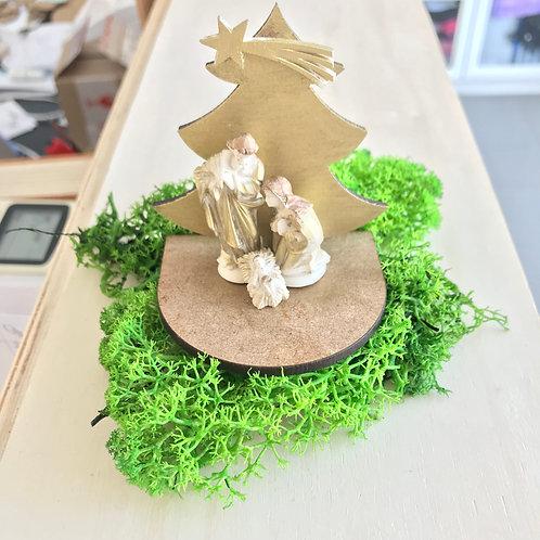 Mini Conjunto Árvore 7cm e Sagrada Família 4cm
