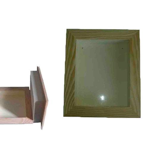 Moldura com caixa e vidro