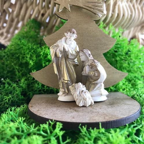 Mini Conjunto Árvore 3,5cm e Sagrada Família 2cm