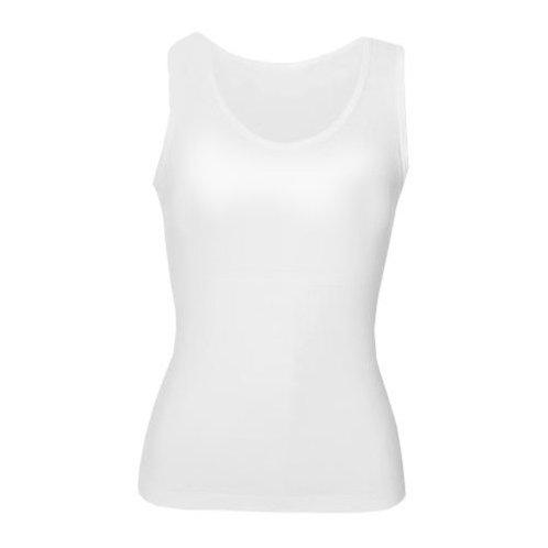 T-Shirt sem mangas de mulher branca ALGODÃO-TOQUE de sublimação
