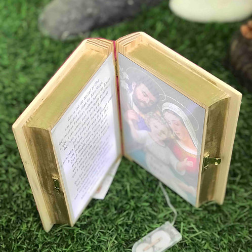 Presépio Livro com oração e Luz