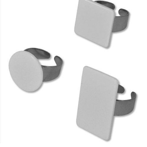 Anéis com formas personalizáveis de sublimação