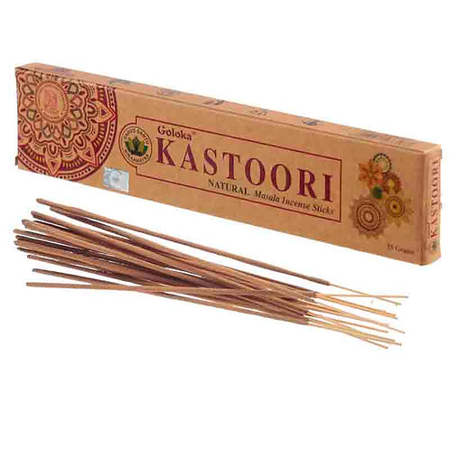 Pack  6 Paus de incenso -Kastoori (Natural)
