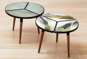 Ceramic side tables