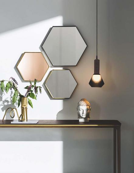 Visual hexagonal mirrors