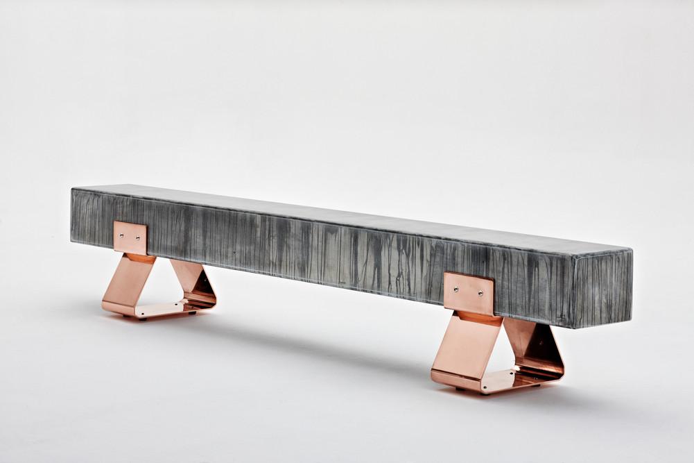 Wiid Design -copper & steel bench 3