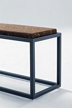 Wiid- Cork & steel bench - dark cork