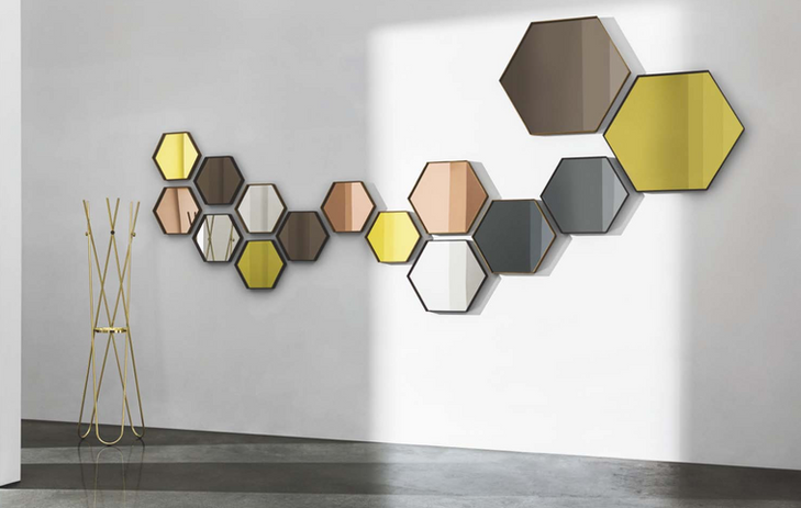 Visual Hexagonal Mirror wall