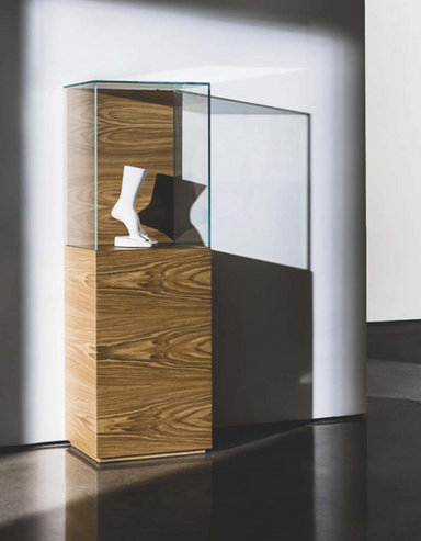 Nest cabinet with glass